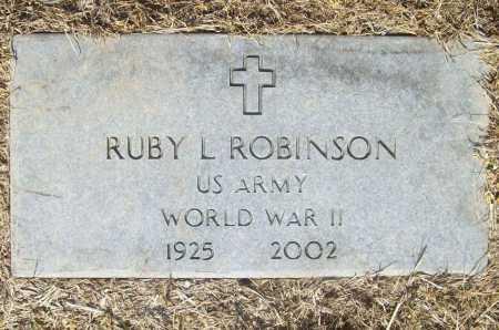 ROBINSON (VETERAN WWII), RUBY LUIE - Benton County, Arkansas   RUBY LUIE ROBINSON (VETERAN WWII) - Arkansas Gravestone Photos