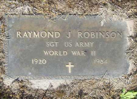 ROBINSON (VETERAN WWII), RAYMOND J - Benton County, Arkansas | RAYMOND J ROBINSON (VETERAN WWII) - Arkansas Gravestone Photos