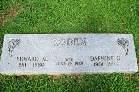 RODEN, DAPHINE G. - Benton County, Arkansas | DAPHINE G. RODEN - Arkansas Gravestone Photos