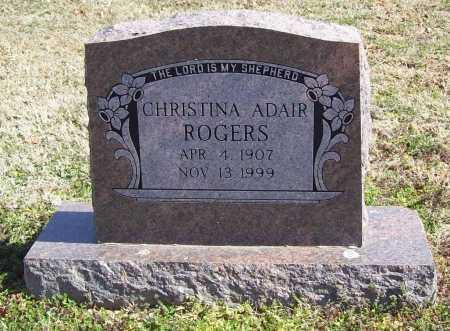 ROGERS, CHRISTINA ADAIR - Benton County, Arkansas | CHRISTINA ADAIR ROGERS - Arkansas Gravestone Photos