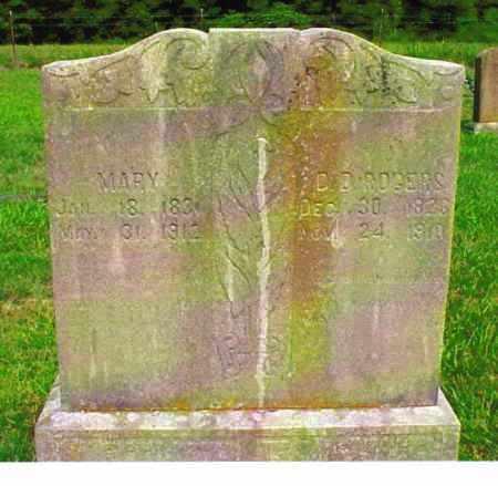 EDENS ROGERS, MARY - Benton County, Arkansas   MARY EDENS ROGERS - Arkansas Gravestone Photos