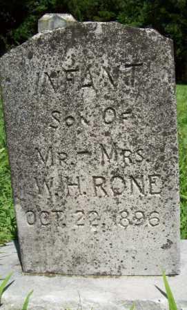 RONE, INFANT SON - Benton County, Arkansas   INFANT SON RONE - Arkansas Gravestone Photos