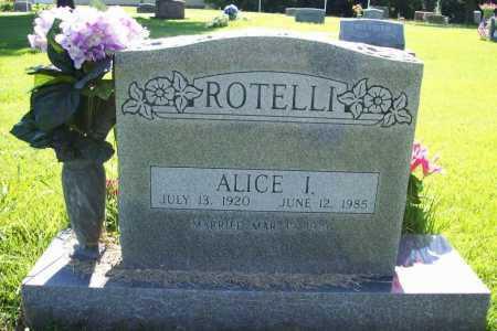 ROTELLI, ALICE I. - Benton County, Arkansas | ALICE I. ROTELLI - Arkansas Gravestone Photos