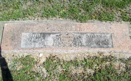 ROTH, VIVIAN A. - Benton County, Arkansas | VIVIAN A. ROTH - Arkansas Gravestone Photos