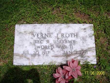 ROTH (VETERAN WWII), VERNE J. - Benton County, Arkansas   VERNE J. ROTH (VETERAN WWII) - Arkansas Gravestone Photos
