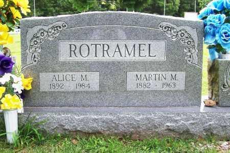 ROTRAMEL, ALICE M. - Benton County, Arkansas | ALICE M. ROTRAMEL - Arkansas Gravestone Photos