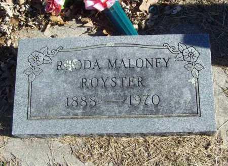 MALONEY ROYSTER, RHODA - Benton County, Arkansas | RHODA MALONEY ROYSTER - Arkansas Gravestone Photos