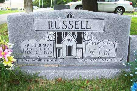 "RUSSELL, ANDREW JACKSON 'JACK"" - Benton County, Arkansas   ANDREW JACKSON 'JACK"" RUSSELL - Arkansas Gravestone Photos"
