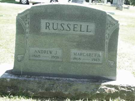 RUSSELL, MARGARET  A. - Benton County, Arkansas | MARGARET  A. RUSSELL - Arkansas Gravestone Photos