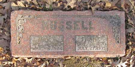 RUSSELL, MARIE - Benton County, Arkansas | MARIE RUSSELL - Arkansas Gravestone Photos