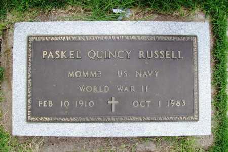 RUSSELL (VETERAN WWII), PASKEL QUINCY - Benton County, Arkansas | PASKEL QUINCY RUSSELL (VETERAN WWII) - Arkansas Gravestone Photos