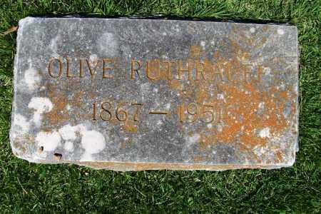RUTHRAUFF, OLIVE - Benton County, Arkansas   OLIVE RUTHRAUFF - Arkansas Gravestone Photos