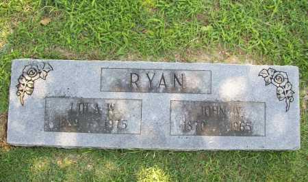 RYAN, JOHN W. - Benton County, Arkansas | JOHN W. RYAN - Arkansas Gravestone Photos
