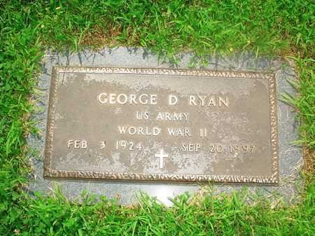 RYAN (VETERAN WWII), GEORGE D. - Benton County, Arkansas   GEORGE D. RYAN (VETERAN WWII) - Arkansas Gravestone Photos