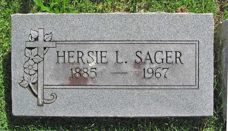 SAGER, HERSIE L - Benton County, Arkansas | HERSIE L SAGER - Arkansas Gravestone Photos