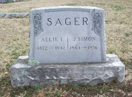 SAGER, ALLIE I. - Benton County, Arkansas | ALLIE I. SAGER - Arkansas Gravestone Photos