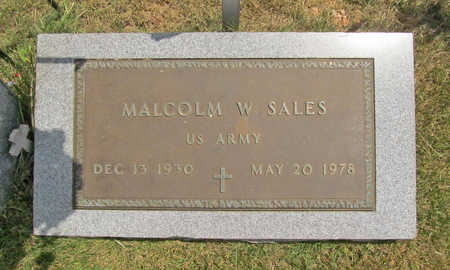 SALES (VETERAN), MALCOLM W - Benton County, Arkansas | MALCOLM W SALES (VETERAN) - Arkansas Gravestone Photos