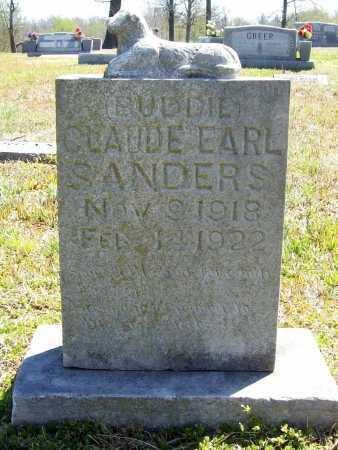 """SANDERS, CLAUDE EARL """"BUDDIE' - Benton County, Arkansas   CLAUDE EARL """"BUDDIE' SANDERS - Arkansas Gravestone Photos"""