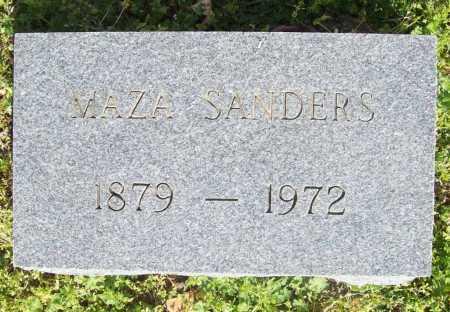 SANDERS, MAZA - Benton County, Arkansas   MAZA SANDERS - Arkansas Gravestone Photos