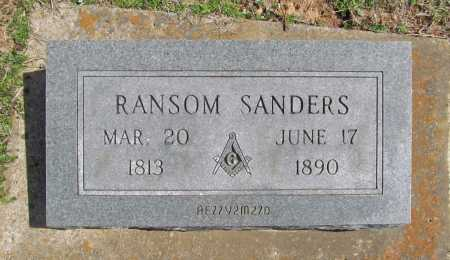 SANDERS, RANSOM - Benton County, Arkansas   RANSOM SANDERS - Arkansas Gravestone Photos
