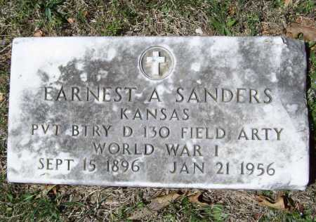 SANDERS (VETERAN WWI), EARNEST A - Benton County, Arkansas | EARNEST A SANDERS (VETERAN WWI) - Arkansas Gravestone Photos
