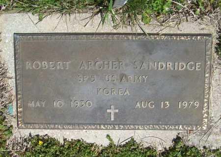 SANDRIDGE (VETERAN KOR), ROBERT ARCHER - Benton County, Arkansas | ROBERT ARCHER SANDRIDGE (VETERAN KOR) - Arkansas Gravestone Photos