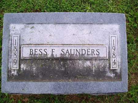 SAUNDERS, BESS F. - Benton County, Arkansas | BESS F. SAUNDERS - Arkansas Gravestone Photos