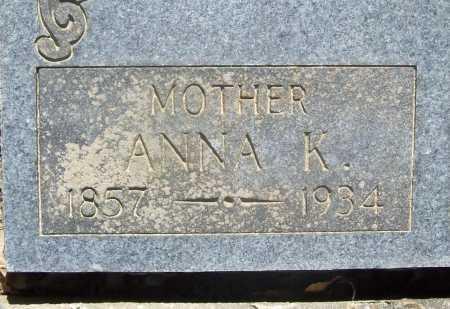 SCHAUM, ANNA K. - Benton County, Arkansas   ANNA K. SCHAUM - Arkansas Gravestone Photos