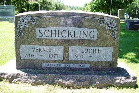 SCHICKLING, VERNIE ELMER - Benton County, Arkansas   VERNIE ELMER SCHICKLING - Arkansas Gravestone Photos