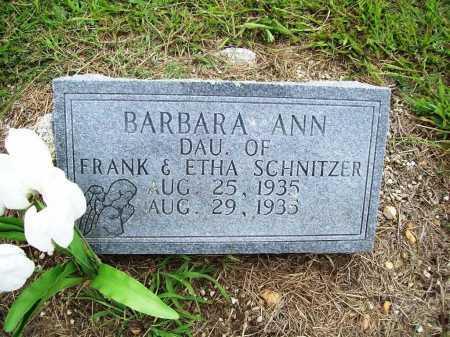SCHNITZER, BARBARA ANN - Benton County, Arkansas | BARBARA ANN SCHNITZER - Arkansas Gravestone Photos