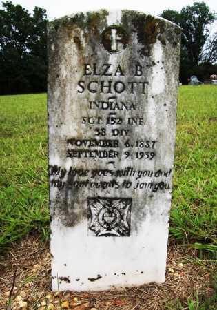 SCHOTT (VETERAN UNION), ELZA B - Benton County, Arkansas   ELZA B SCHOTT (VETERAN UNION) - Arkansas Gravestone Photos