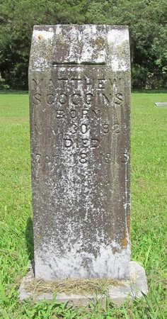 SCOGGINS, MATTHEW - Benton County, Arkansas   MATTHEW SCOGGINS - Arkansas Gravestone Photos