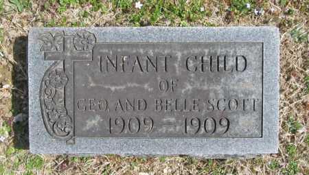 SCOTT, INFANT CHILD - Benton County, Arkansas   INFANT CHILD SCOTT - Arkansas Gravestone Photos