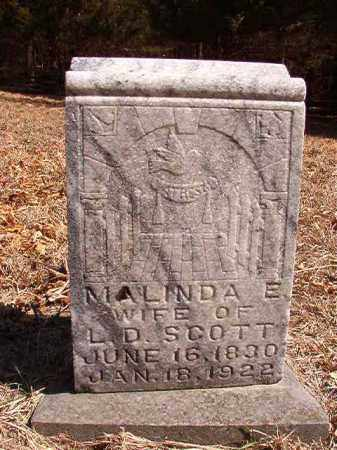 SCOTT, MALINDA E - Benton County, Arkansas   MALINDA E SCOTT - Arkansas Gravestone Photos
