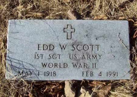 SCOTT (VETERAN WWII), EDD W - Benton County, Arkansas | EDD W SCOTT (VETERAN WWII) - Arkansas Gravestone Photos
