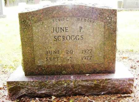 SCROGGS, JUNE P. - Benton County, Arkansas | JUNE P. SCROGGS - Arkansas Gravestone Photos