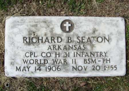 SEATON (VETERAN WWII), RICHARD B - Benton County, Arkansas | RICHARD B SEATON (VETERAN WWII) - Arkansas Gravestone Photos