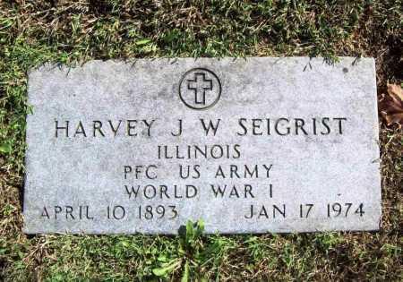 SEIGRIST (VETERAN WWI), HARVEY  J. W. - Benton County, Arkansas | HARVEY  J. W. SEIGRIST (VETERAN WWI) - Arkansas Gravestone Photos