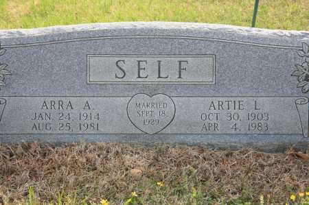SELF, ARRA A. - Benton County, Arkansas   ARRA A. SELF - Arkansas Gravestone Photos