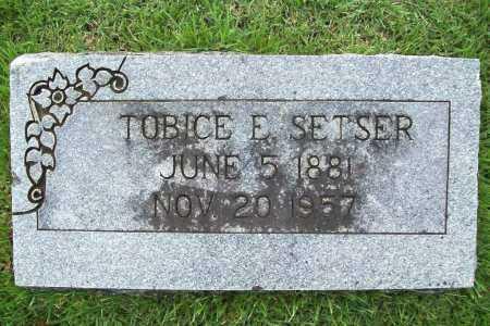 SETSER, TOBICE E. - Benton County, Arkansas   TOBICE E. SETSER - Arkansas Gravestone Photos