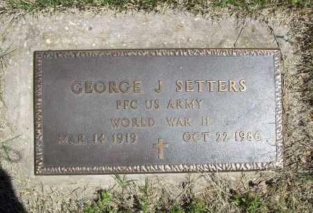 SETTERS (VETERAN WWII), GEORGE J - Benton County, Arkansas | GEORGE J SETTERS (VETERAN WWII) - Arkansas Gravestone Photos