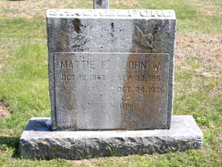 SHACKELFORD, MATTIE F. - Benton County, Arkansas | MATTIE F. SHACKELFORD - Arkansas Gravestone Photos