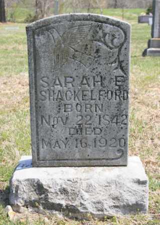 SHACKELFORD, SARAH E. - Benton County, Arkansas | SARAH E. SHACKELFORD - Arkansas Gravestone Photos