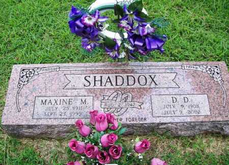 SHADDOX, MAXINE M. - Benton County, Arkansas | MAXINE M. SHADDOX - Arkansas Gravestone Photos