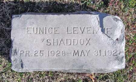 SHADDOX, EUNICE LEVERNE - Benton County, Arkansas | EUNICE LEVERNE SHADDOX - Arkansas Gravestone Photos