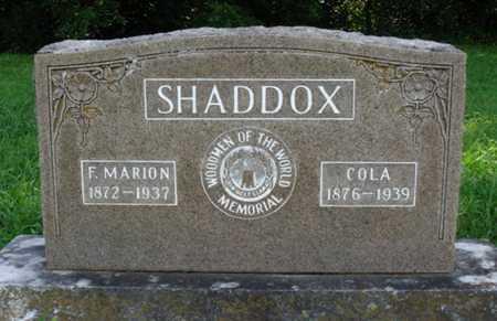 SHADDOX, F. MARION - Benton County, Arkansas   F. MARION SHADDOX - Arkansas Gravestone Photos