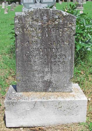 SHADDOX, RAMONA KATHLEEN - Benton County, Arkansas   RAMONA KATHLEEN SHADDOX - Arkansas Gravestone Photos