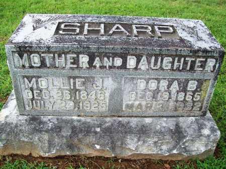 SHARP, MOLLIE J. - Benton County, Arkansas   MOLLIE J. SHARP - Arkansas Gravestone Photos