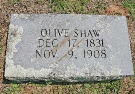 SHAW, OLIVE - Benton County, Arkansas   OLIVE SHAW - Arkansas Gravestone Photos
