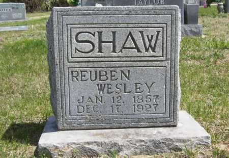 SHAW, REUBEN WESLEY - Benton County, Arkansas   REUBEN WESLEY SHAW - Arkansas Gravestone Photos